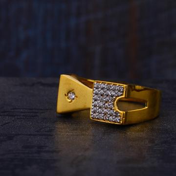 22KT Gold Exclusive Cz Hallmark Mens Ring MR529