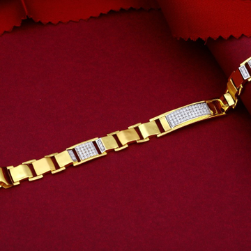 22KT Gold Casting Piece With Diamonds Bracelet For Men