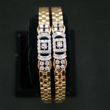 gold attractive diamond bangle kj-b02
