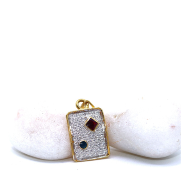 22KT / 916 Gold Fancy Square Wedding Pendant for M... by