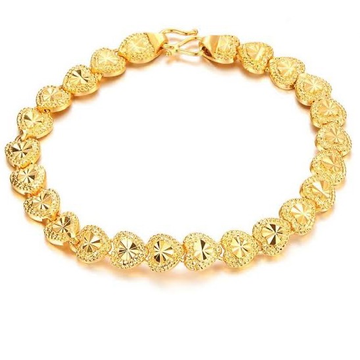 22kt, 916 Hall-Marked iranian textured ball's design Yellow Gold Bracelet For Men And Women JKB075