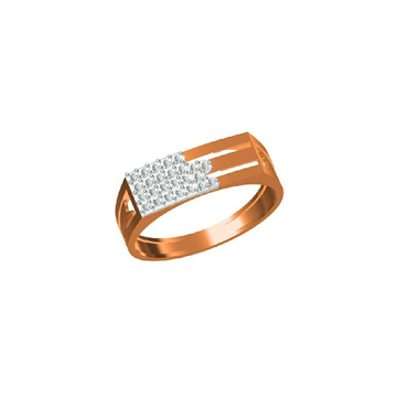 18Kt Gent's Fashionable Outwear Rose Gold Ring-31329