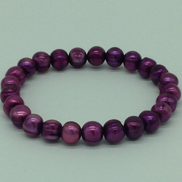 Purple Potato Pearls 1 Layer Elastic Bracelet JBG0...