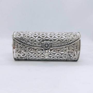 hallmarked silver designer clutch in floral motifs...