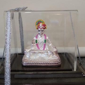 999 silver delightful design swaminarayan Idols  by