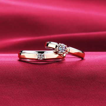 18KT Rose Gold Solitaire engagement ring for coupl... by
