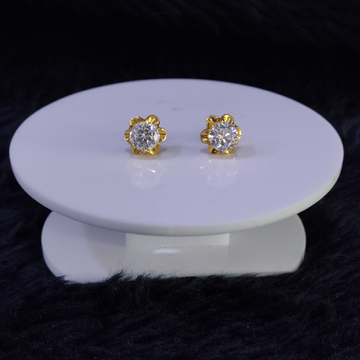 22KT/916 Yellow Gold Kekoa Stud Earrings For Women