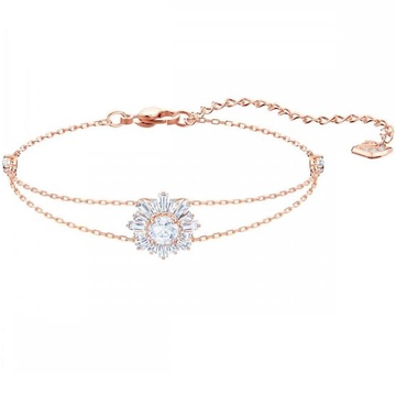 18kt rose gold flower pattern bracelet jkb033