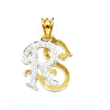 22k gold rs monogram pendant mga - mgp001