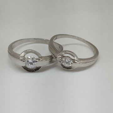 925 Sterling Silver Couple Band