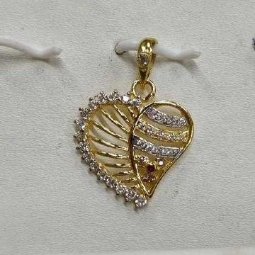 Leaf Shape 916 Gold Ladies Pendant