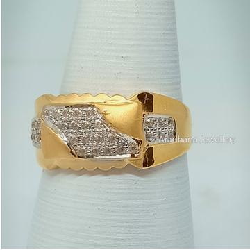 916 Gold Fancy Gents Diamond Ring