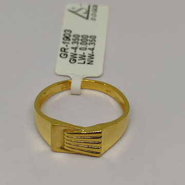 916 Gold Ring For Men sOG-R94 by S. O. Gold Private Limited