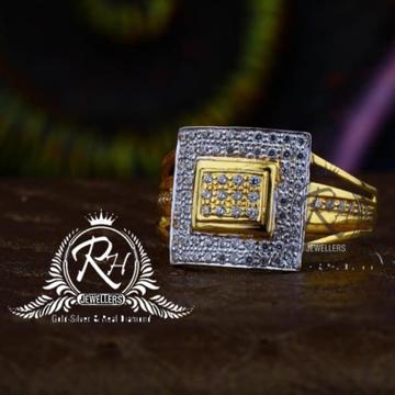 22 carat gold square gents rings RH-GR843