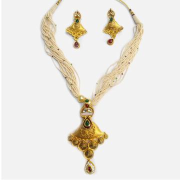 916 Gold Antique Necklace Set RHJ-4396