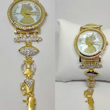 18k Ladies Fancy Gold Indian Watch G-2236