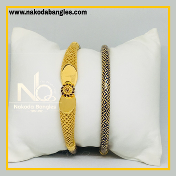 916 Gold Pipe Bangles NB - 513