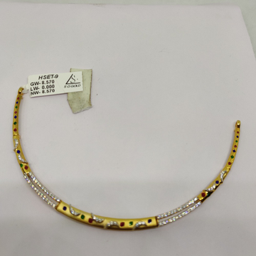 22KT Gold Necklace SOG-N001 by S. O. Gold Private Limited
