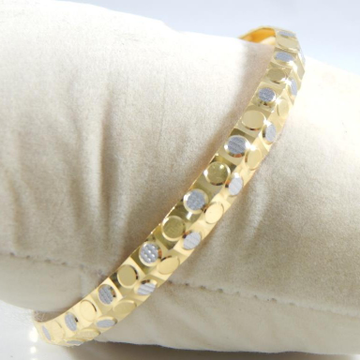 22KT Yellow Gold Dotted Brecelet For Men