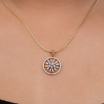 22 ct gold pendent round shape