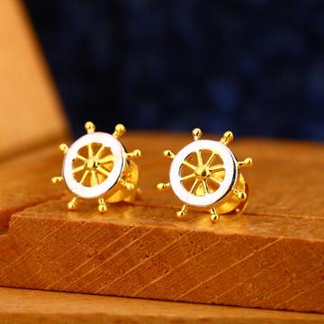 916 gold mens fancy earrings me 23