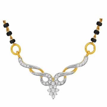 18K Gold Real Diamond Mangalsutra MGA - RMS0015