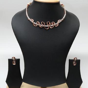 18kt Delicate Diamond Necklace set RNS006