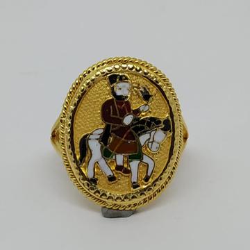916 Gold Fancy Gent's Ramdevpir Rings