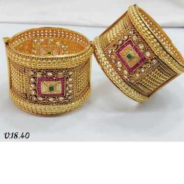 916 Gold rajwadi bangles GB-0001