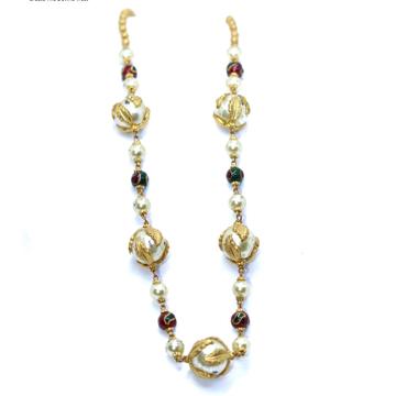 22kt / 916 Gold Fancy Moti Mala for Women CHG0027