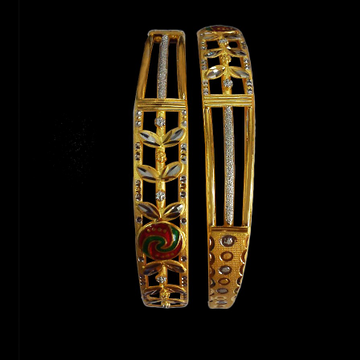 916 Cz Meena Bangle SG-70