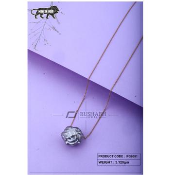 18 carat Italian ladies fancy gold chain 1 piece ball ifg0051