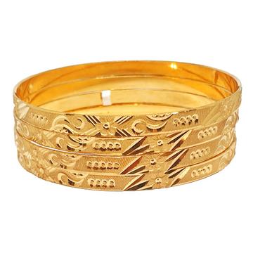 One gram gold forming plain bangles mga - bge0334