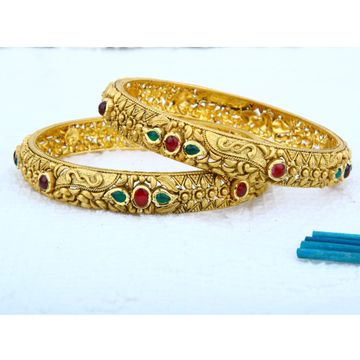 916 Gold Antique Bangle Set BRG - 0104
