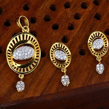 916 gold cz Pendant Set ps-0004