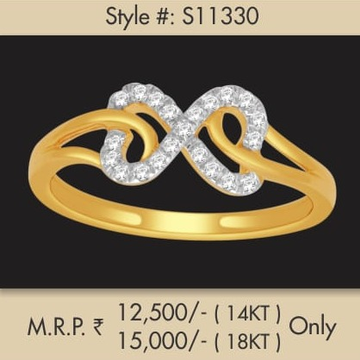 22Kt Gold Stylish Diamond Ring