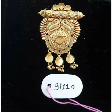 916 Antique Jadtar Khokha Pendant by