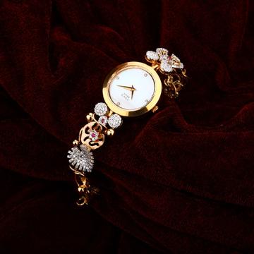 18K Ladies Rose Gold Watch-RLW14
