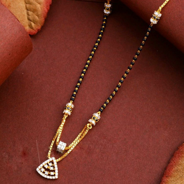 22KT/ 916 Gold fancy double line triangle mangalsu... by
