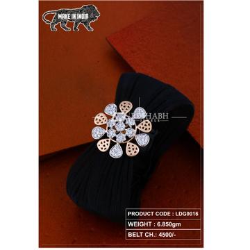 18 Carat Ladies rose gold bracelet  flower shape  ldg0016