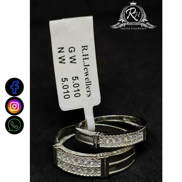 92.5 Silver Classical Couple Rings RH-CR762
