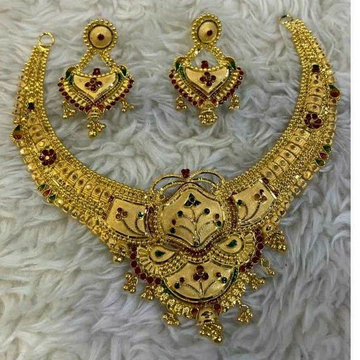 916 Gold Necklace Set by