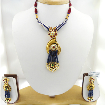 916 Gold Antique Bridal Necklace Set RHJ-3405