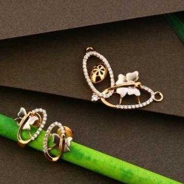 18 carat rose gold ladies pendants set RH-PS461