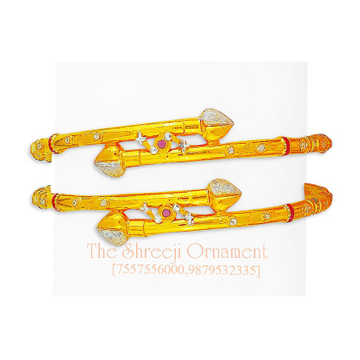916 Gold Designer Ball Pipe Copper Kadali - 0003
