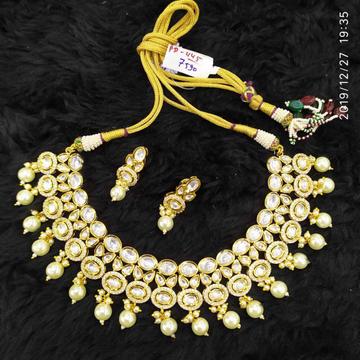Beautiful Kundan And Diamond Necklace Set#888