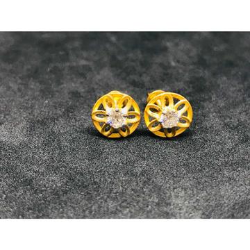 22k Ladies Fancy Single Stone Earring E-62502
