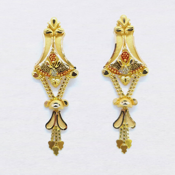 916 Gold Indian Latkan Earring For Ladies SK-E030