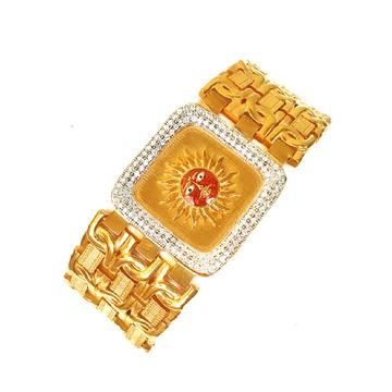 One gram gold forming surya narayan cz diamond bracelet mga - bre0025
