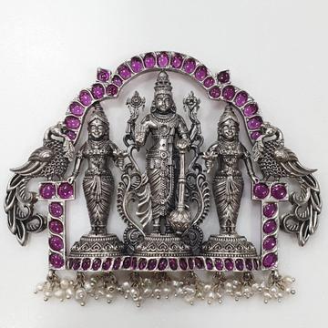925 pure silver Tirupati Balaji Stylish necklace p...